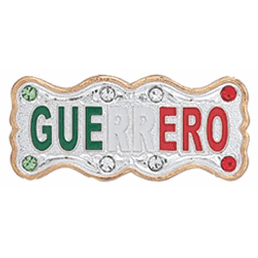 caballobronco Placa Para Sombrero Guerrero Tricolor PLA-GUE