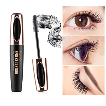Unpara VIBELY 4D Fiber Mascara Crazy Curling Eyelash Extension Makeup Black Waterproof Eye Lashes Mascara (
