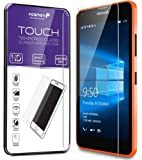 Fosmon Tempered Glass for Microsoft Lumia 640 Screen Protector - TOUCH 0.26mm [ULTRA THIN | Shatter Proof | Oleophobic Coating] HD Clear Glass Screen Protector for Microsoft Lumia 640 (1 Year Warranty)