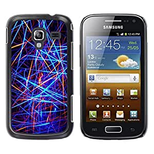LECELL -- Funda protectora / Cubierta / Piel For Samsung Galaxy Ace 2 I8160 Ace II X S7560M -- Abstract Neon Lines --