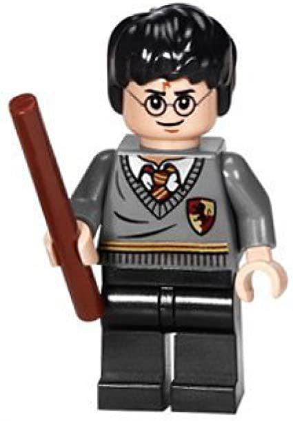 Gryffindor uniform with Cape /& Wand LEGO Harry Potter Minifig Hogwarts
