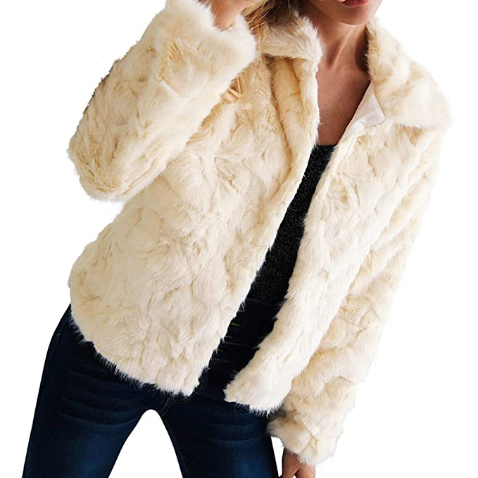 Lenfesh Chaqueta Mujer, Otoño Invierno Abrigo Piel sintética cálida Chaqueta Elegantes de Mujeres Chica Parkas Abrigos Outwear Coat: Amazon.es: Ropa y ...