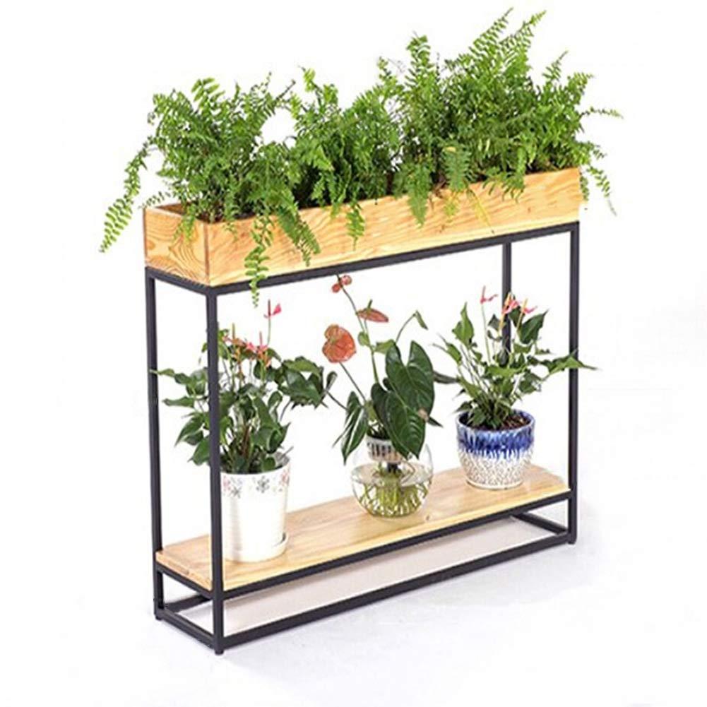 Flower Stand PHTW WNQ Porch Cafe Supporto Partizione Bonsai   Legno di colore Fiore Riposare Ufficio Soggiorno A+ (Dimensioni   80x30x67CM)