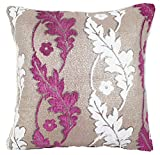 Geometric/Floral Printed Patterned Stuffed Cushion ChezMax Zippered Chenille Throw Pillow Insert Square Decorative