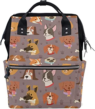 Funny Dog Durable Kids Back To School Backpack Polyester Book Bag For Boys Girls Adults