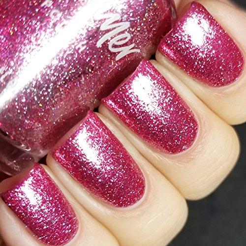 Tourmaline Glitter - Pink Tourmaline Nail Polish - 0.5 oz Full Sized Bottle