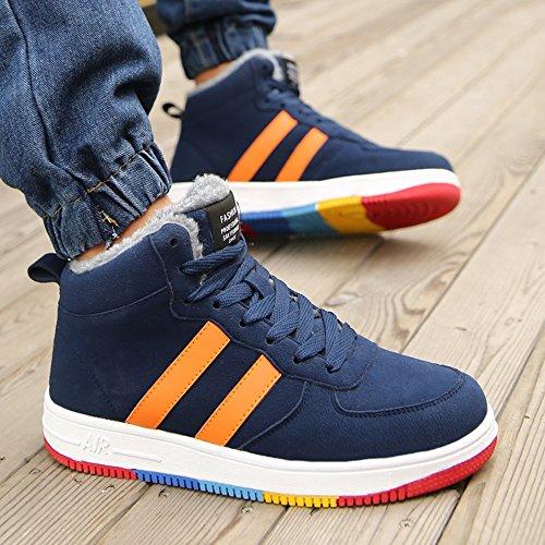 couleur Eu40 Haute De Les Couleurs Feifei Bleu 3 Plaque Chaussures Hommes Chaud D'aide Antidérapante Garder Hiver Taille Chaussures Cn41 Uk7 w6TqX0v