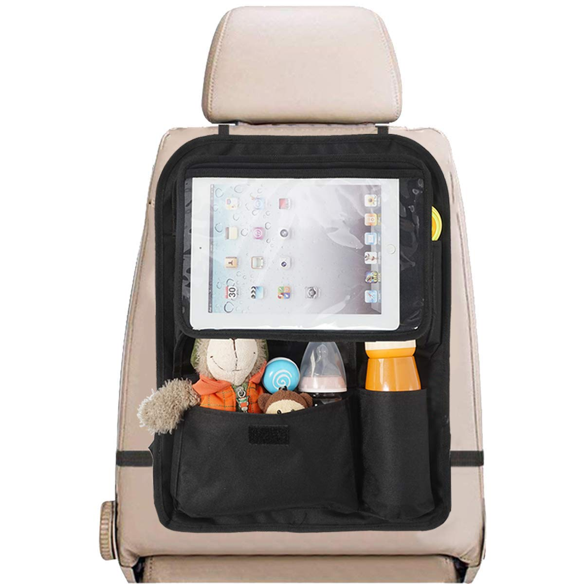 INFANZIA Car Seat Back Organizer, 10.5'' Touch Screen Tablet Holder, Backseat Organizer for Kids Accesories Toy Storage by INFANZIA