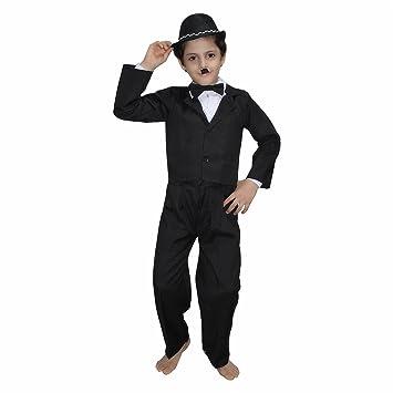 65400d104c6ba Buy Kaku Fancy Dresses Boy s Polyester Charlie Chaplin