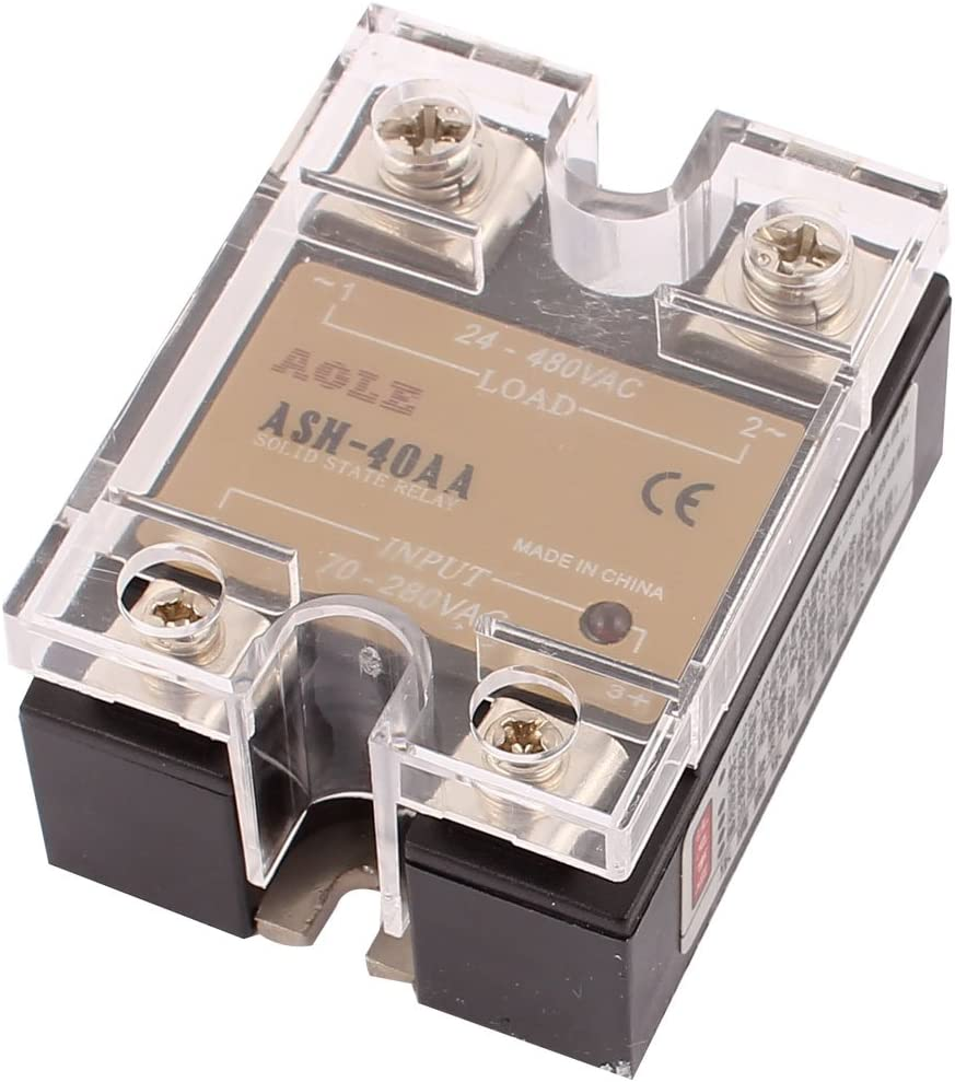 uxcell ASH-120AA 70-280VAC to 24-480VAC 120A Single Phase Solid State Relay AC-AC Relay Authorized