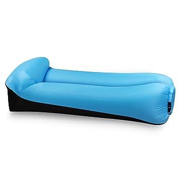 EooCoo Sofá inflable portable, sofá al aire libre del aire para acampar, parque, playa, patio trasero, pesca, nadando