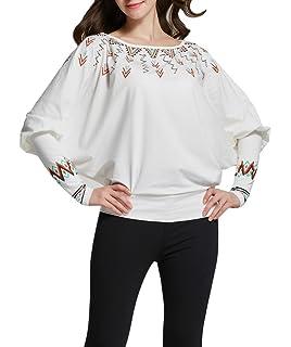 f91403d77b230 Bigood Femme Col V T-shirt à Manche Longue Uni Sous-pull Vogue Slim ...