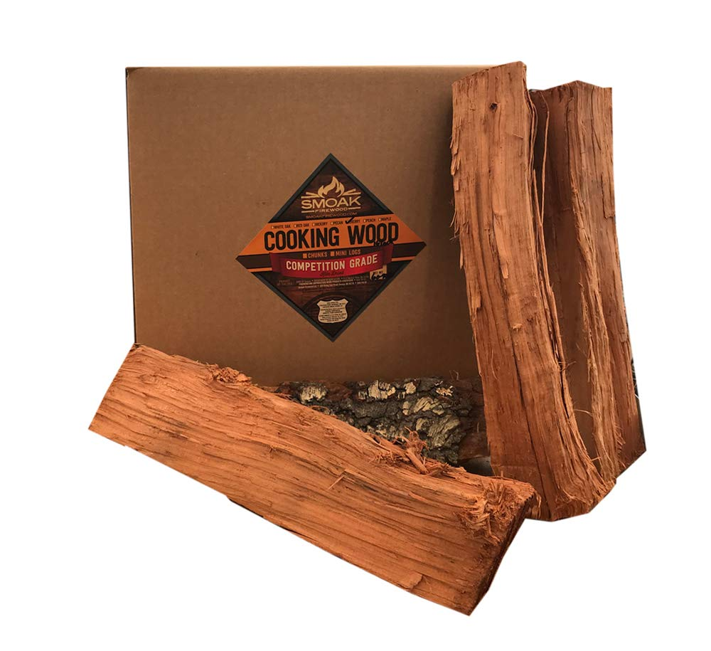 Smoak Firewood Cooking Wood Logs - USDA Certified Kiln Dried (Cherry, 16in Pieces (60-70lbs))