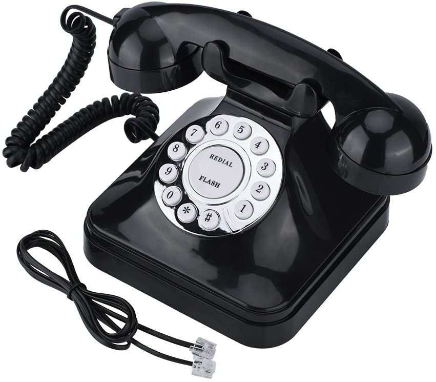 Vintage Landline Phone Retro Wire Landline Corded Telephone Old Fashioned Desk Telephone Replacement for Home and Office Decor