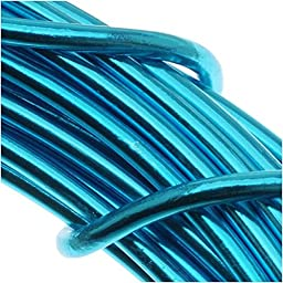 BeadSmith WCR-4117 11.8m 12 Gauge Aluminum Craft Wire, Turquoise, 39\'