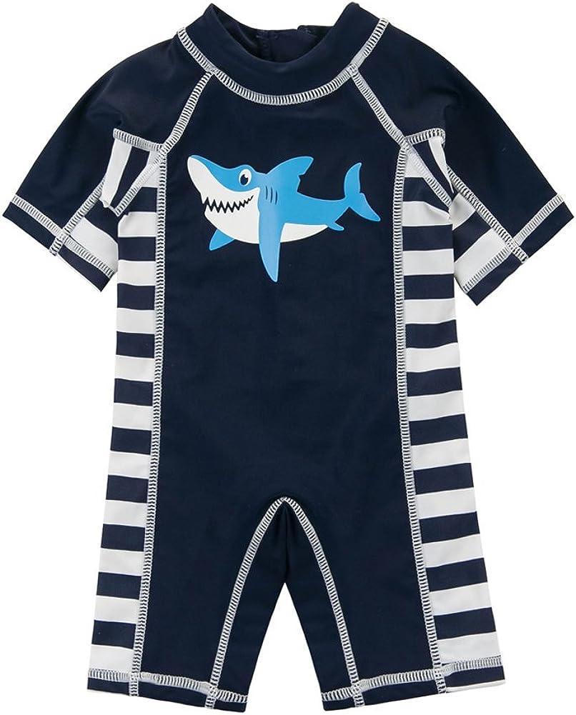 UV Sun Protective One-Piece Rash Guard SANSI Kids Boys Swimsuit UPF 30