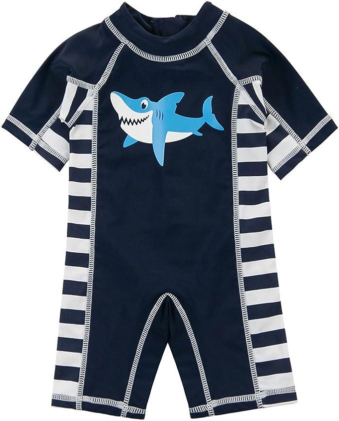 Sun Protective Rash Guard Swimsuit Surf Swimming Costume Toddler Kid Boy UPF 50