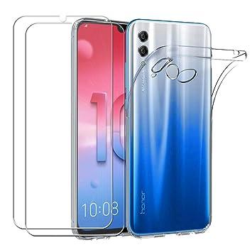 Meeter Funda Huawei P Smart 2019, Transparente Silicona Funda para Huawei P Smart 2019 Carcasa Flexible Claro Ligero TPU Fundas + 2X Película de ...