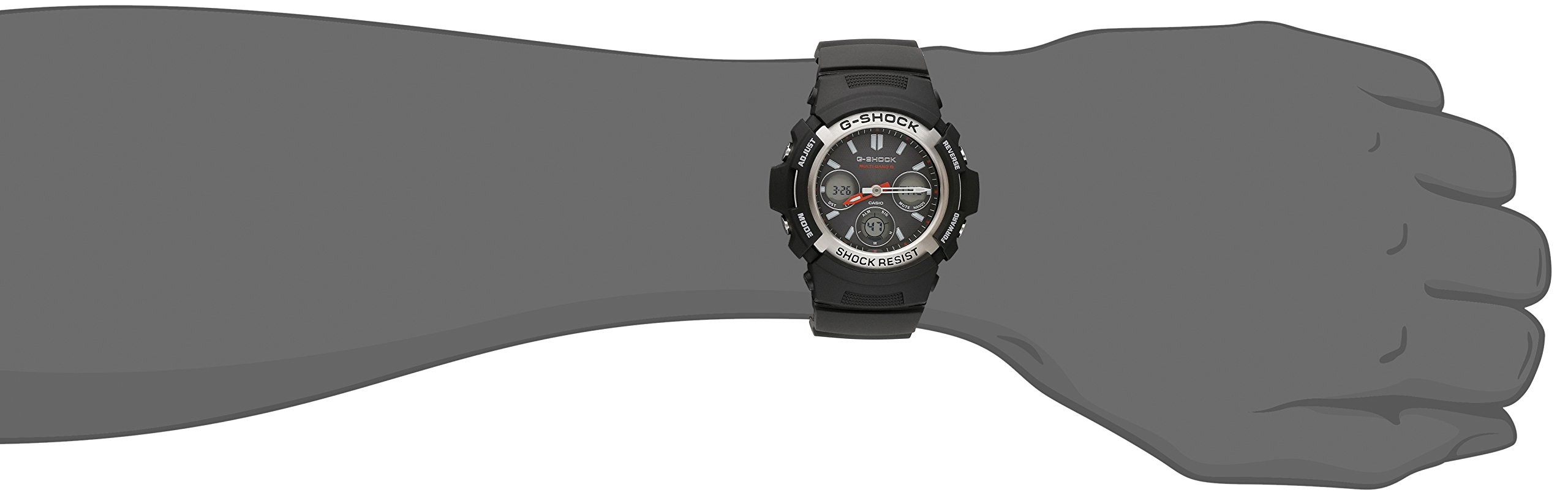 Casio Men's G-Shock AWG-M100-1ACR Tough Solar Atomic Black Resin Sport Watch by Casio (Image #2)