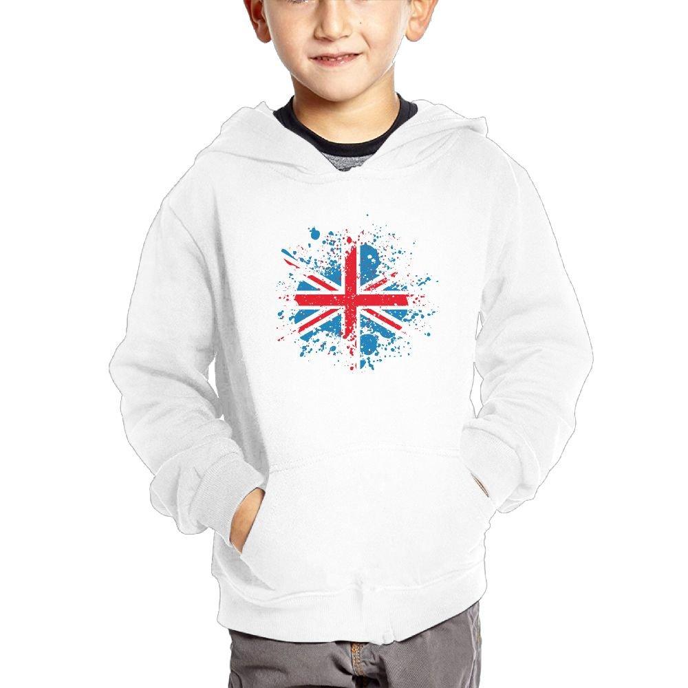 Small Hoodie UK Flag Boys Fashion Pullover Hoodie