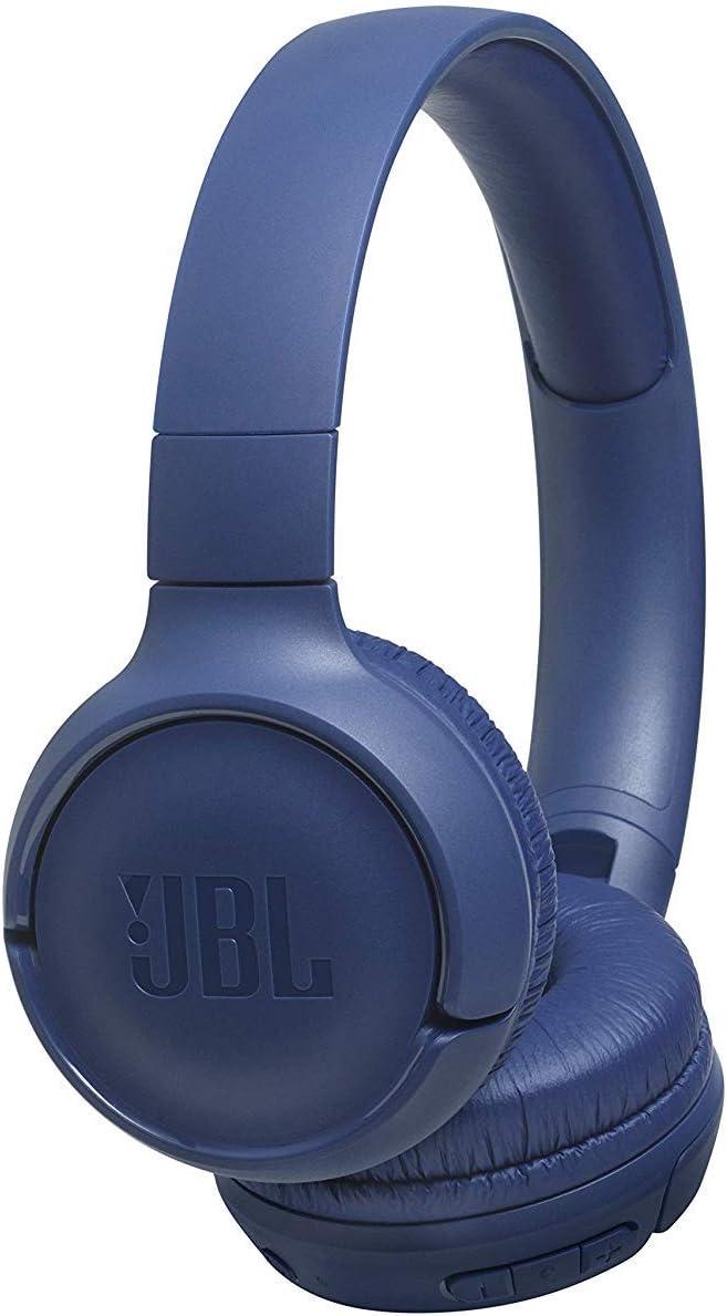 JBL Tune500BT - Auriculares supraaurales inalámbricos con conexiones multipunto y asistente de voz, batería de 16 h, azul