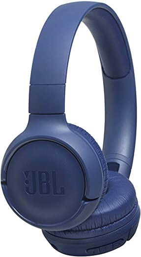 JBL Tune 500BT Powerful Bass Wireless On-Ear Headphones with Mic & 16 Hours Playtime (Blue)