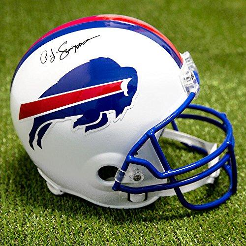 Autographed Nfl Replica Football - OJ Simpson Buffalo Bills Autographed Full Size Replica NFL Football Helmet