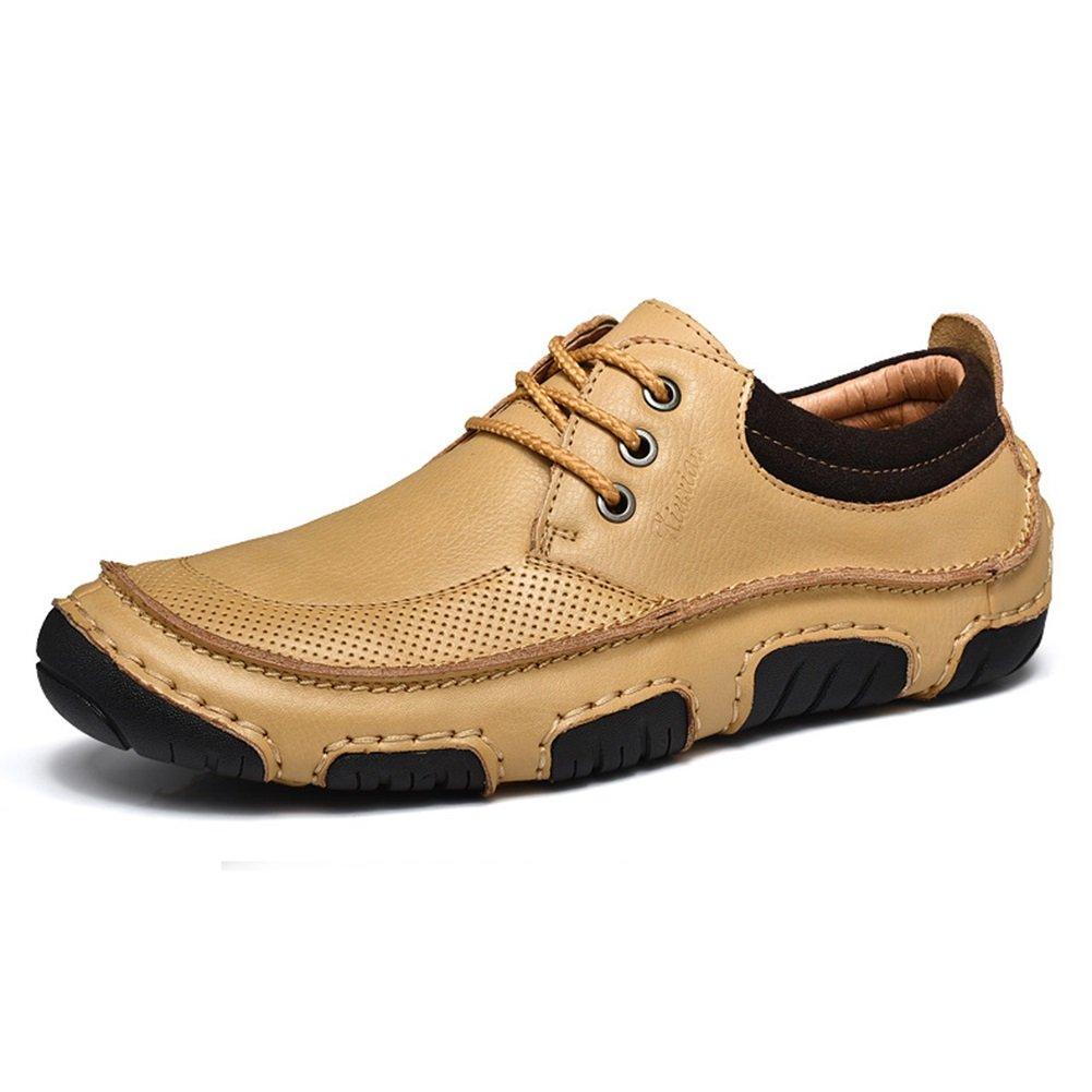 CAI Herren Echtleder Freizeitschuhe 2018 Sommer/Herbst / Winter Herren Outdoor-Fahren Schuhe Leder Loafers & Slip-Ons (Farbe : Beige, Größe : 40)