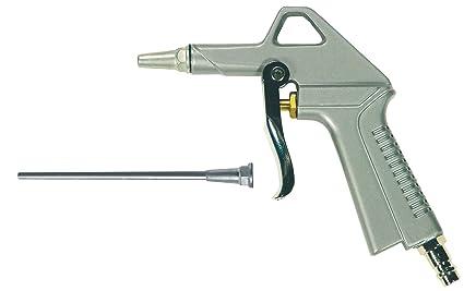 Mecafer 150027 - Pistola de aire comprimido (boquilla larga y corta)