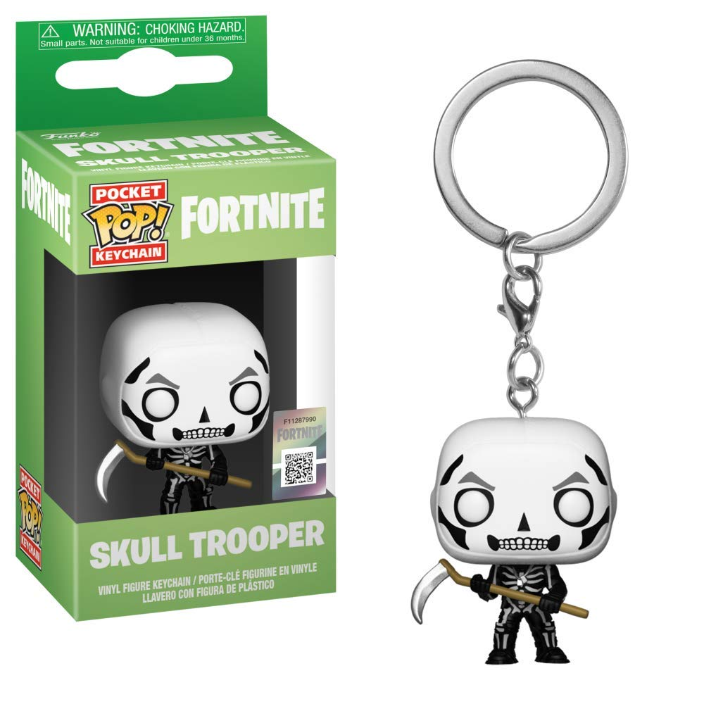 Funko- Pocket Pop Fortnite Llavero de Vinilo con Anilla Skull Trooper, Multicolor (36952)