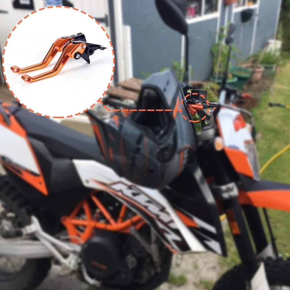 Auzkong Courte de Frein Dembrayage Leviers R/églables pour KTM 690 Duke//SMC//SMCR 2014-2019 1090 Adventure//R 2017-2018 690 Enduro R 2014-2017 Adventure 1050 2016 Orange