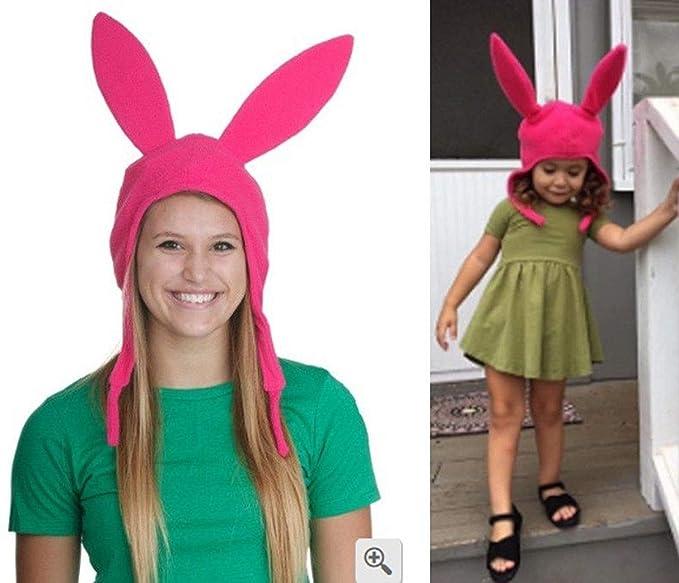 Amazon.com  Mom Kids Cute Rabbit Ears Hat Bob s Burgers Louise ... 53554af435c