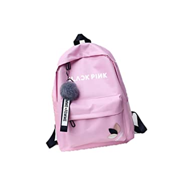 Color : Blue04, Size : 38 X 28 X 11cm AILIENT Blackpink Casual Backpack School Backpack Simple Style Rucksack Waterproof Daypack Printed Casual Unisex