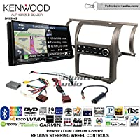 Volunteer Audio Kenwood Excelon DNX994S Double Din Radio Install Kit with GPS Navigation Apple CarPlay Android Auto Fits 2003-2004 Infiniti G35 (Pewter) (Dual zone A/C controls)