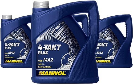 4 X 4l Mannol 4 Takt Plus Api Sl 10w 40 Jaso Ma Ma2 Viertakt Motorrad Motoroel Auto