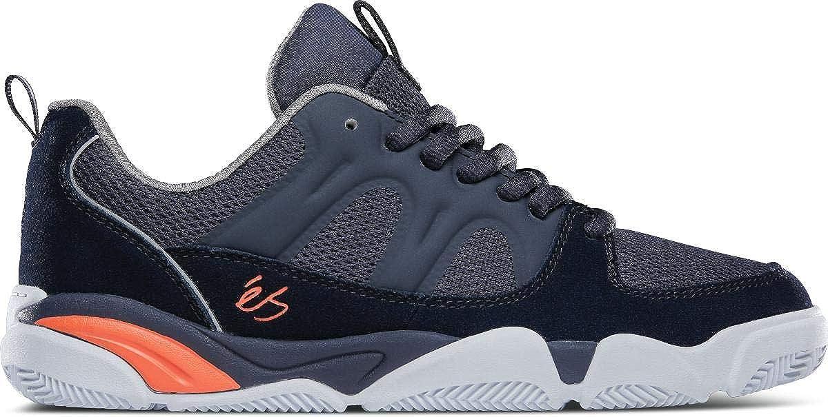 ES Footwear Silo Navy Grey Orange Skate Shoes