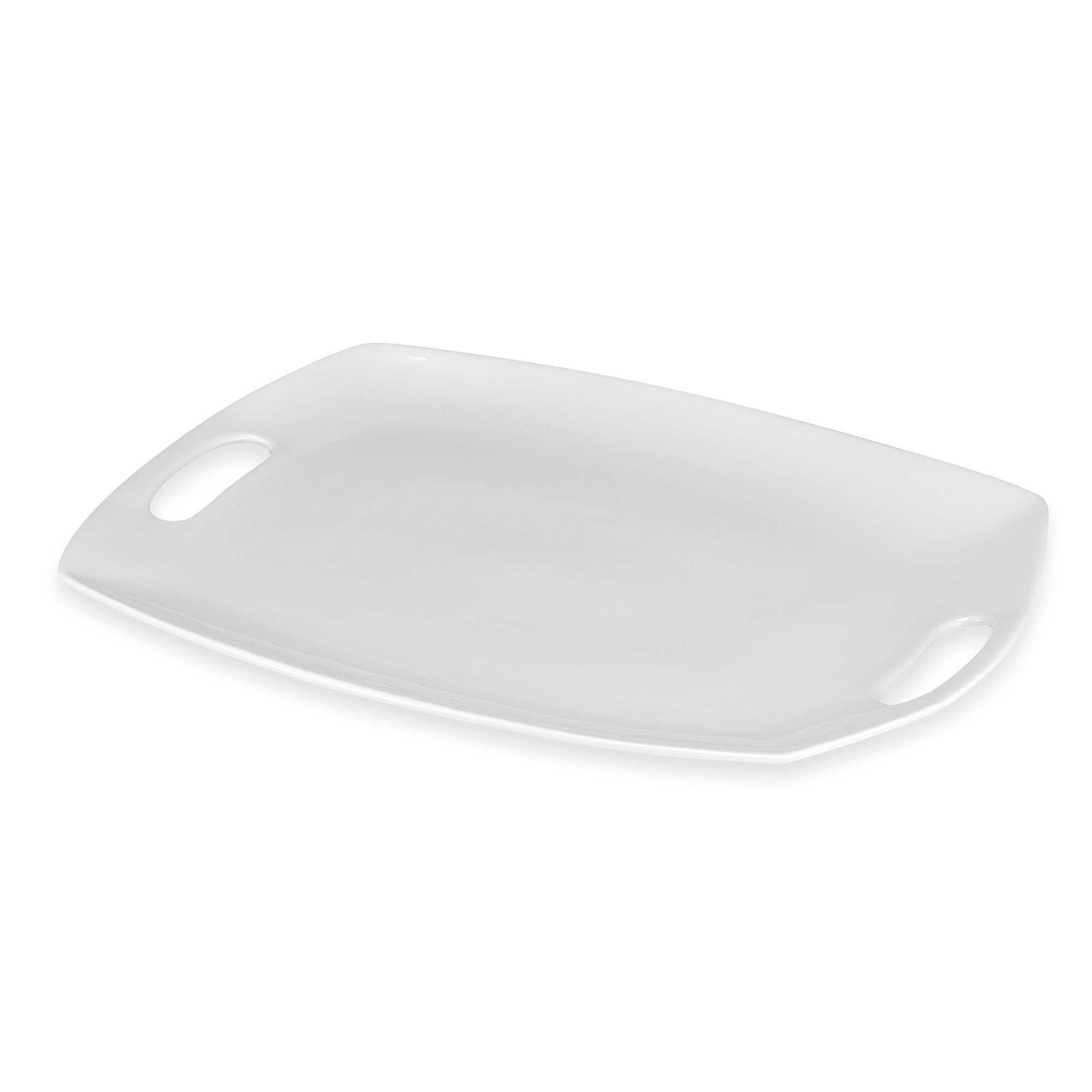 13'' W x 17-1/2'' L Everyday White by Fitz and Floyd Platter with Handles