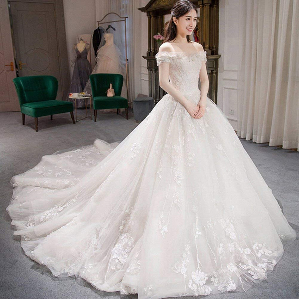 Amazon Yt Er Wedding Dress Trailing Dream Princess Luxury