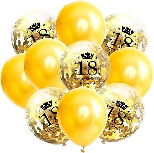 Confetti Latex Inflatable Mix 30 40 50 60 Birthday Anniversary Ballon Party Deco