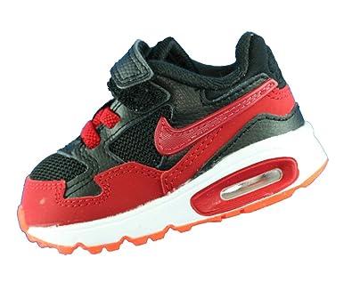 new photos 26587 c8d6b Nike Air Max St (TDV), Baskets Basses Mixte Bébé, Noir Rouge