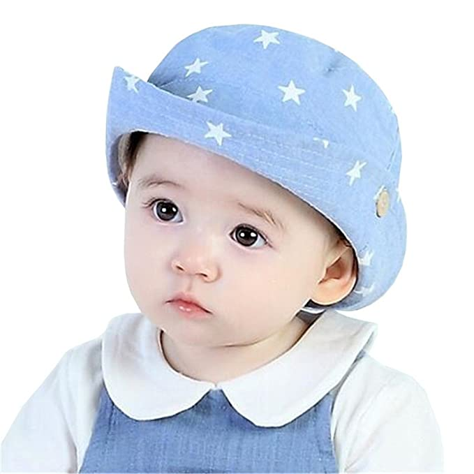 Amazon.com  Kangkang  Toddler Infant Hats Sun Cap Stars Cowboy Hat ... 09456d7956a