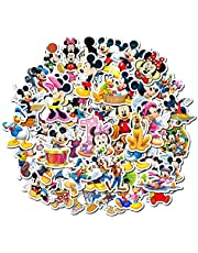 50Pcs Disney Mickey Minnie Vinyl Waterproof Graffiti Decals Stickers Pack for Laptop Water Bottles Phone Case Hydroflask Cup Guitar Skateboard Luggages