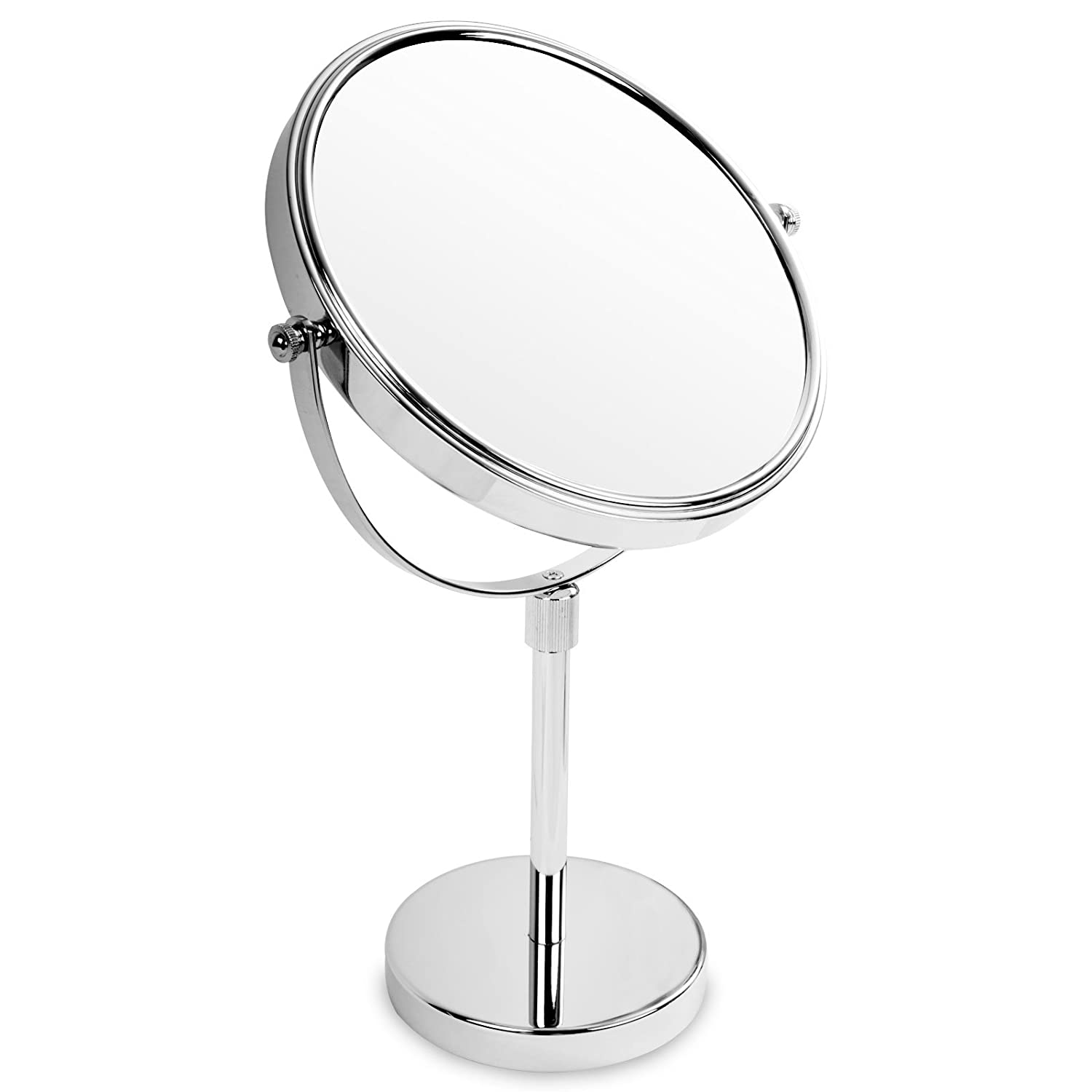 casa pura® Cosmetic Table Mirror 18.5 cm Diameter, 5x Magnification | 3 Magnification Options Available