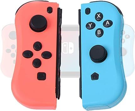 DerLin - Mando de Repuesto Joy-con (L/R) para Nintendo Switch, Joysticks inalámbricos Joy con Pad – Azul/Rojo neón: Amazon.es: Electrónica