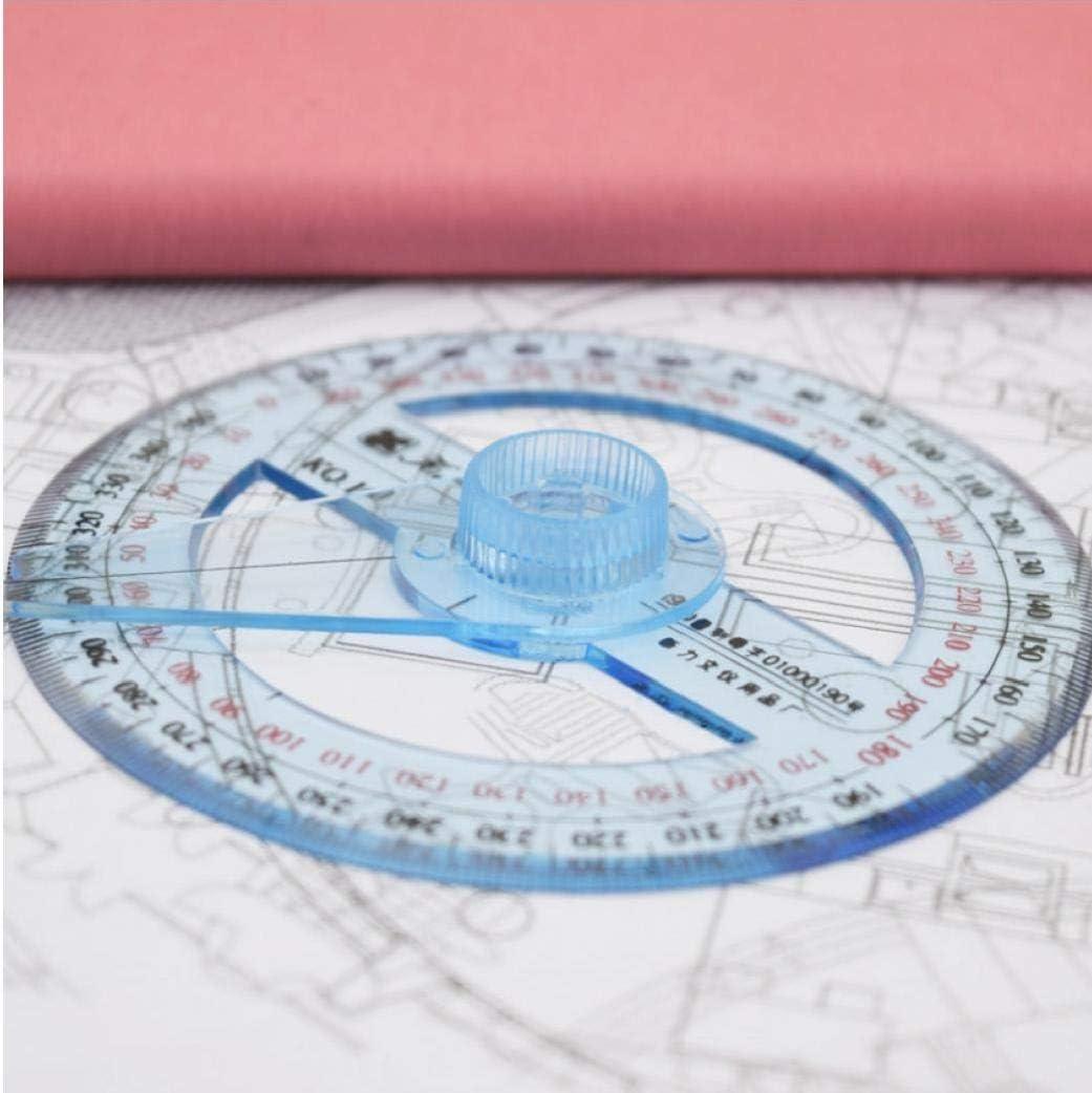 TOSSPER 1pc 10cm Lineal Rund transparente Plastik 360 Grad Winkelmesser Lineal Winkel Drafting Protractor Briefpapier