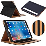 iPad Pro 10.5 Case, YEONPHOM Ultra Slim Light Weight Auto Sleep Awake Smart Leather Stand Folio Flip Case Cover with Document Card Pocket , Multiple Viewing Angles for Apple iPad Pro 10.5 inch – Black