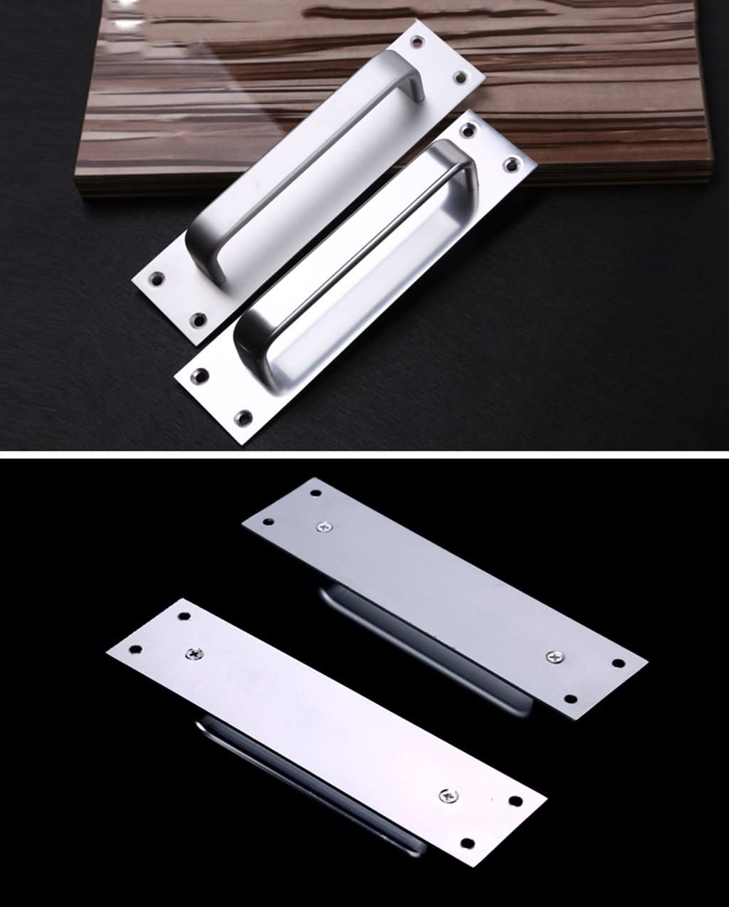 MILAYA JI Bin Shop® Tirador de Puerta corredera Puerta de Acceso de Puerta de Aluminio * (Color : B): Amazon.es: Hogar