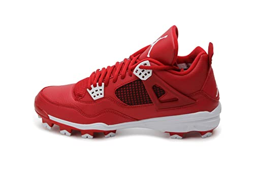 info for a1724 ab0a4 Nike Mens Air Jordan Retro 4 IV MCS Baseball Cleats Gym Red White  807709-601 Size 15  Amazon.ca  Shoes   Handbags