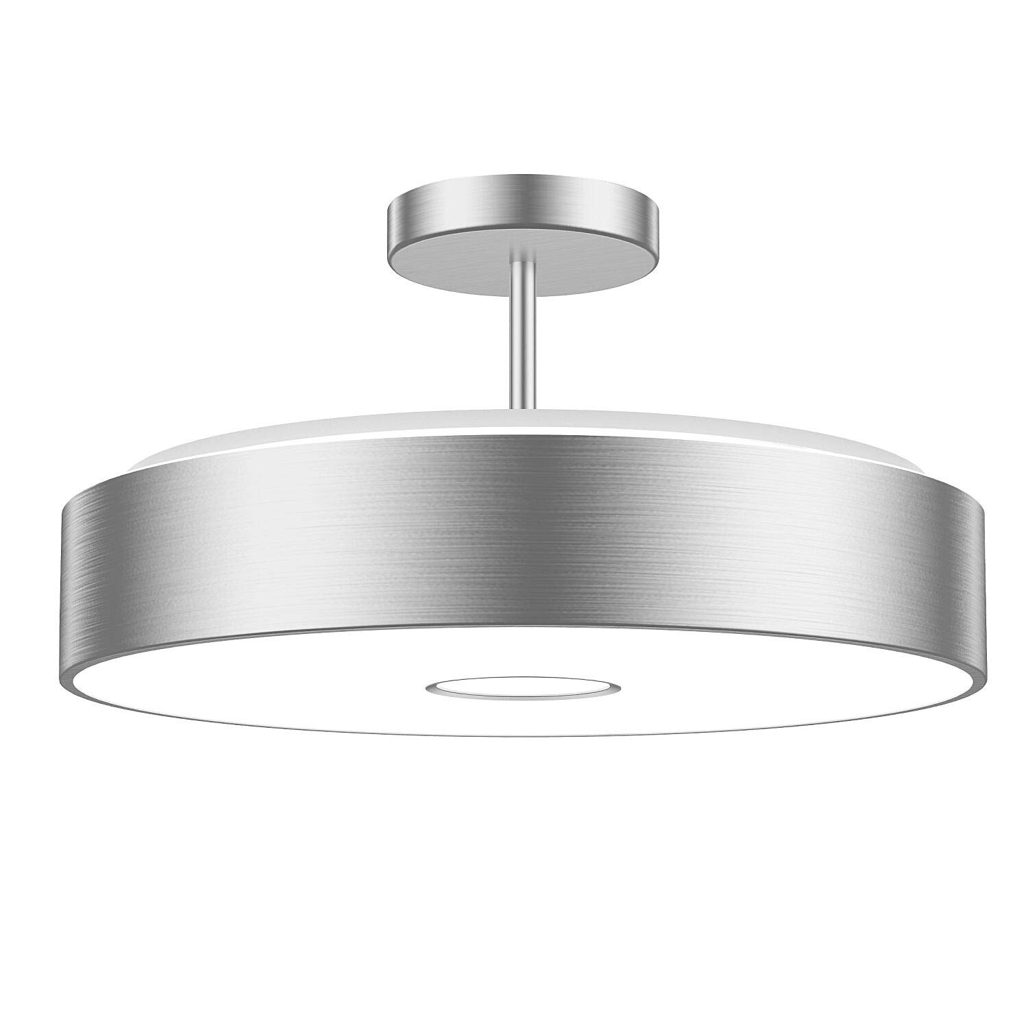 Onforu Waterproof 32W LED Ceiling Lights, CRI 90+, 12.8in, 300W Incandescent Bulbs Equivalent, IP65, 2800lm 5000K Daylight White Semi Flush Mount for Bedroom, Balcony, Living Room
