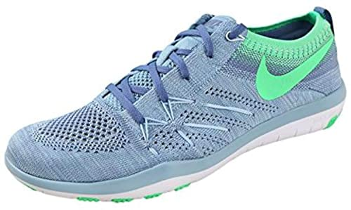 newest 87b6e 4eb46 Nike Womens Free Tr Focus Flyknit Low Top Lace Up Running, Blue, Size 5.0